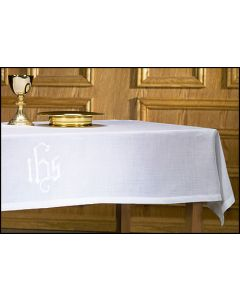 Altar Frontal with IHS Symbol 100% Linen