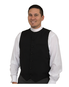 Men's Black Clergy Vest