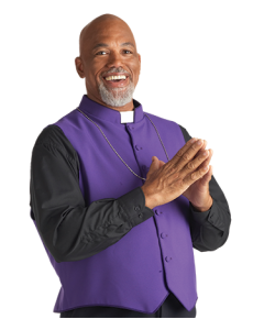 Men's Purple Clergy Vest