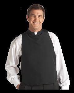 Men's Black Clergy Shirt Front