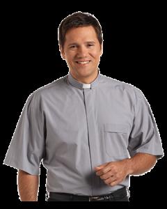 Men's Tab Collar Light Grey Clergy Shirt