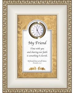 My Friend - Proverbs Tabletop Christian Clock
