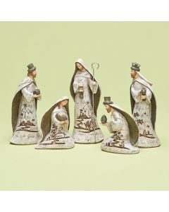 Nativity Set with Engraved Words