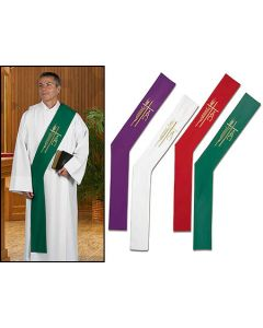 Alpha Omega Deacon Stoles Set of 4