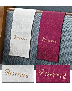 Church Reserved Pew Cloth 4 Pack