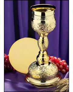 Brass Orthodox Chalice and Paten