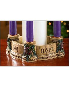 Joy, Faith, Love, Hope Advent Wreath