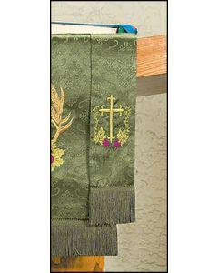 Embroidered Jacquard Bookmark w/Cross & Vine Design Parament
