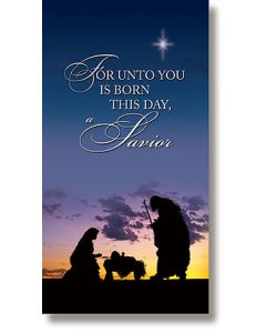 Unto You is Born a Savior Christmas Banner