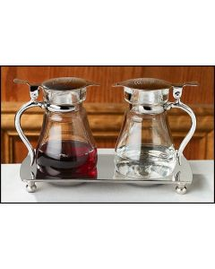 Nickel Plated Cruet Set with Tray