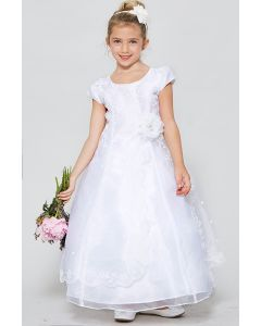 Organza First Communion Dress with Split Skirt