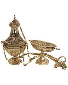 Ornate Church Censer and Boat