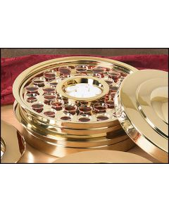 Stackable Brass Finish Communion Tray 40 Servings