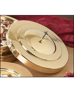Brass Finish Communion Tray Cover