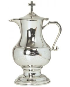 Pewter Church  Flagon with Engraved Grape Design 48 Oz.