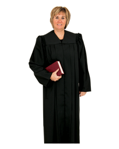 Women's Black  Clergy Robe
