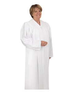 Women's White Clergy Robe