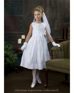 First Communion Dress with Rhinestones