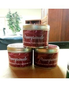 Pomegranate Scripture Scented Candle Tin