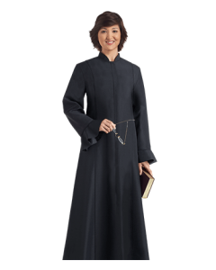 Women's Black Clergy Robe Miriam