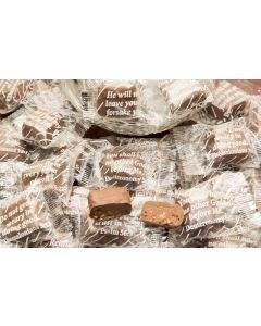 Pretzel Crunch Gourmet Scripture Chocolates With Bible verses