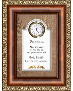 Priorities Tabletop Christian Clock