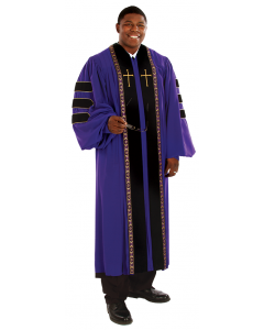 Pulpit Robe Wesley Purple