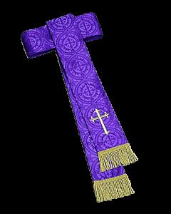 Purple Damascene Clergy Cincture