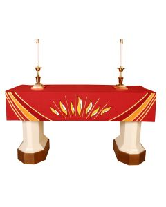 Red Pentecost Altar Frontal Ascension Series