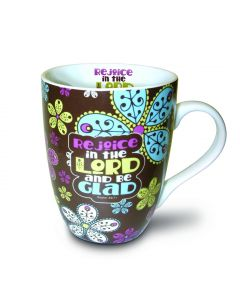 Rejoice in the Lord Paisley Christian Mug Gift Boxed