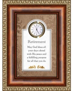 Retirement - Fulfilling Purpose Tabletop Christian Clock