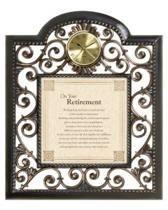 Retirement Blessing Christian Wall Clock