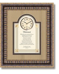 Retirement Framed Christian Wall Clock