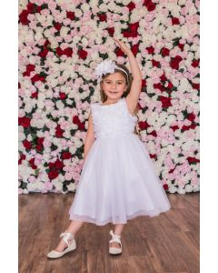 Ruffle Bodice First Communion Dress