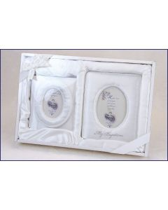 Baptismal Satin Photo Album Gift Set