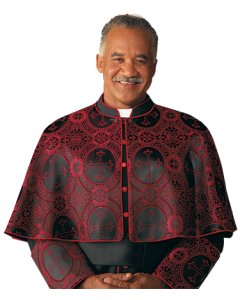 Red Eminence Brocade Clergy Shoulder Cape