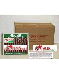 Scripture Candy Canes with Jesus Bookmarks Case