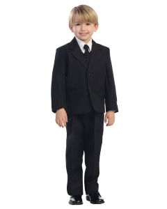 Single Breasted Solid Boys First Communion Suit