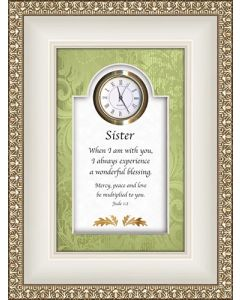 Sister Tabletop Christian Clock