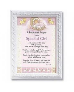 Baptismal Prayer Girl Framed Print