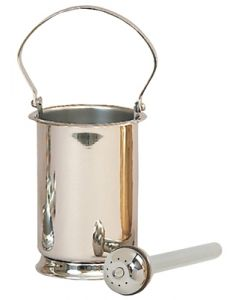 Stainless Steel Holy Water Pot with Sprinkler
