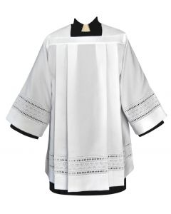 Tailored Priest Surplice with Embroidered Eyelet