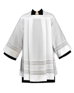 "Tailored Priest Surplice with 3"" Lace Bands"