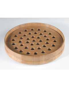 Handcrafted Pecan Stain Communion Tray 40 Servings