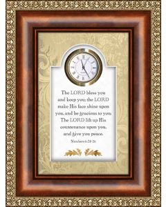 The Lord Bless You and Keep You Tabletop Christian Clock