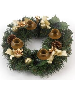 Traditional Pine Cone Christmas Advent Wreath