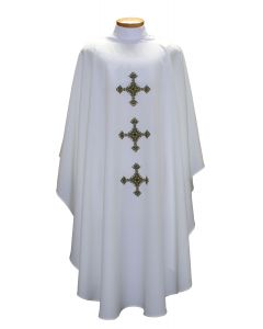 Triple Decorative Cross Clergy Chasuble