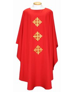 Triple Decorative Filigree Cross Clergy Chasuble