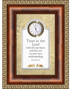 Trust In the Lord  Christian Clock