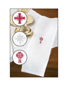 Linen Blend Towel with Embroidered Design